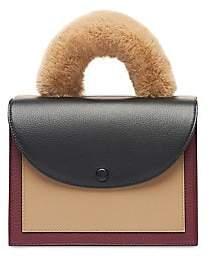 OAD Women's Assembly Faux Fur-Trim Colorblock Leather Crossbody Bag