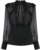 FEDERICA TOSI sheer silk blouse