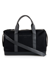 Balenciaga Black canvas weekend bag