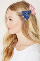 Forever 21 American Flag Bow Hair Clip
