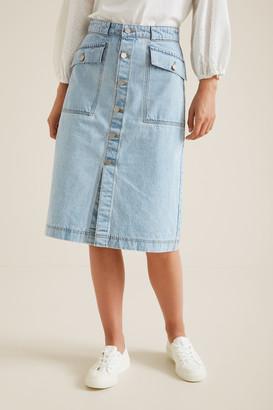 Seed Heritage Denim Midi Skirt