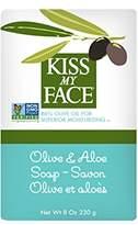 Kiss My Face Olive Oil and Aloe Vera Moisturizing Bar Soap, 8 Ounce, 3 Count