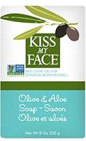 Kiss My Face Pure Olive Oil Soap with Aloe Vera, Moisturizing Bar Soap, 8 oz Bars, (pack of 8)