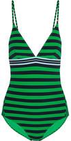 Stella McCartney Calypso Striped Swimsuit - Forest green