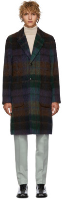 Etro Blue Deconstructed Check Coat