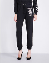 Moschino Logo-print jersey jogging bottoms