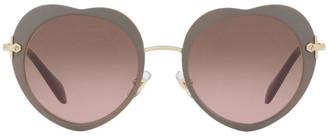 Miu Miu MU 54RS 396586 Sunglasses Tan