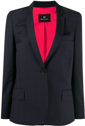 Paul Smith Check Print Tailored Blazer
