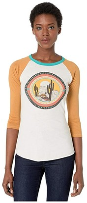 Rock and Roll Cowgirl 3/4 Sleeve Tee 48T3167 (Natural) Women's Clothing