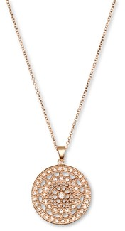 Bloomingdale's Diamond Medallion Pendant Necklace in 14K Rose Gold, .25 ct. t.w.