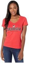 Champion College Georgia Bulldogs University V-Neck Tee (Scarlet 4) Women's T Shirt