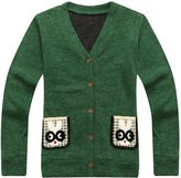 Richie House Boys' Handsome Cardigan with Rabbit Pockets RH1435-B-5/6