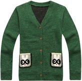 Richie House Boys' Handsome Cardigan with Rabbit Pockets RH1435-C-5/6