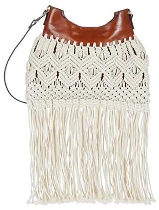 Patricia Nash Noemi Fringe Crossbody (Natural) Bags