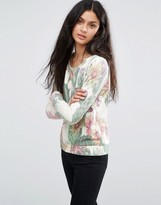 Only Tropical Print Sweatshirt
