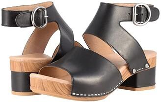 Dansko Minka (Black Full Grain) Women's Toe Open Shoes