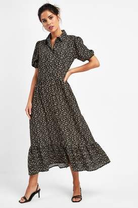 Next Womens Daisy Tiered Shirt Dress - Black