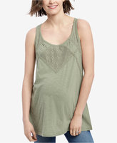 Motherhood Maternity Crochet-Trim Tank Top
