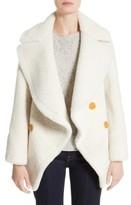 Burberry Women's Teddy Genuine Shearling Pea Coat