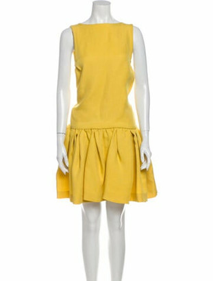 Rochas Silk Mini Dress w/ Tags Yellow