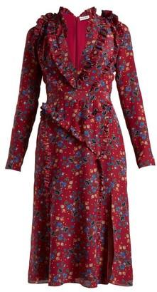 Altuzarra Eureka Floral-print Dress - Womens - Pink Print
