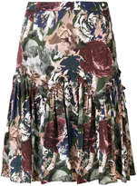 Paul & Joe floral A-line skirt