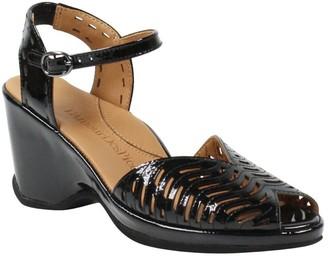 L'Amour des Pieds Leather Peep Toe Sandal - Oanez