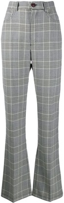 See by Chloe Flared Check Trousers