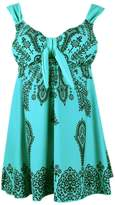 Angelique Plus Size Retro Print Fashion Pin Up Swimdress Style Swimsuit Tankini Set