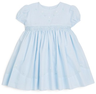 Sarah Louise Floral Embroidery Smock Dress (24 Months)