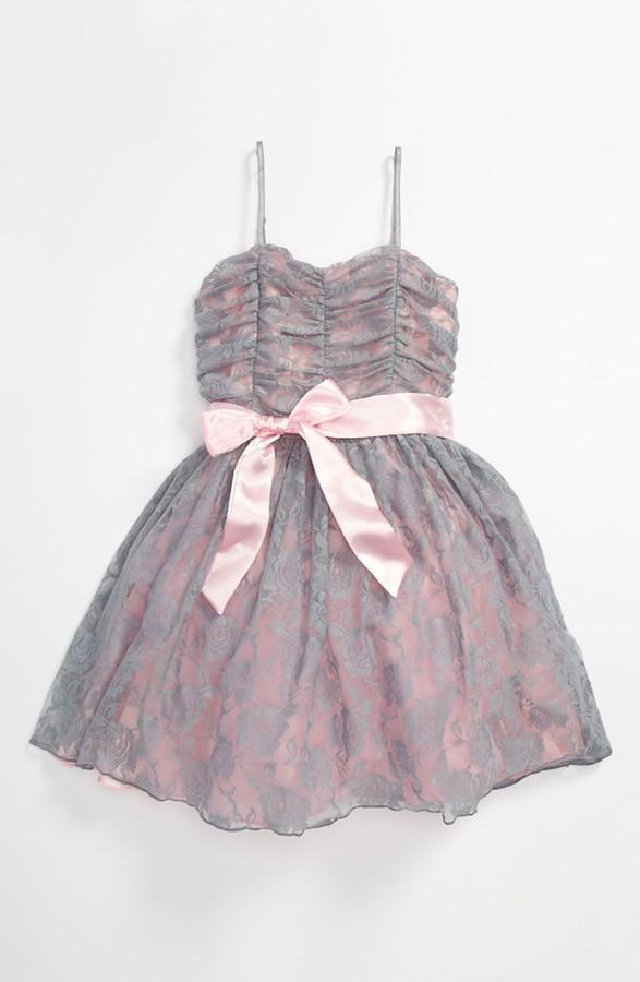 Un Deux Trois Lace Dress (Big Girls)