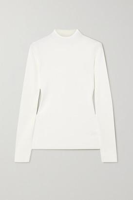 Theory Leenda Ribbed-knit Sweater - White