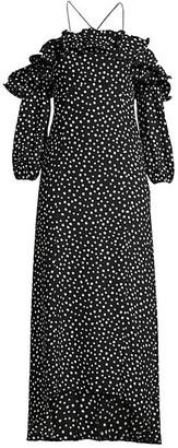 LIKELY Rocky Off-The-Shoulder Polka Dot Midi Dress
