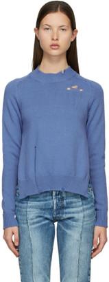 Maison Margiela Blue Knit Destroyed Sweater
