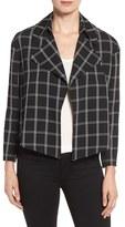 Anne Klein Women's Windowpane Flyaway Jacket