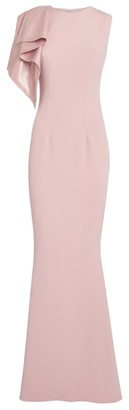 Safiyaa Ruffle-Shoulder Gown