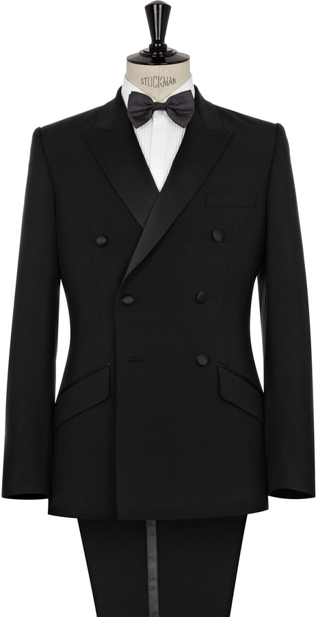 Reiss Fielder DOUBLE BREASTED TUX WITH PEAK LAPEL