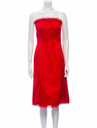 Richard Tyler Strapless Mini Dress Red