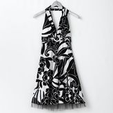 My Michelle Floral O-Ring Halter Dress