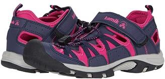 Kamik Wildcat (Little Kid/Big Kid) (Navy/Rose) Girl's Shoes