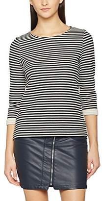 Vero Moda Women's VMLOCAL Striped 3/4 FOLD-UP TOP NFS Blouse,(Size: M)