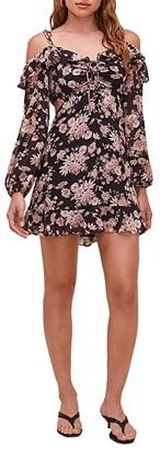 ASTR the Label Anastasia Dress (Black/Dusty Rose Floral) Women's Dress
