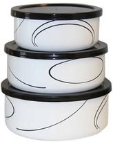 Corelle 6 Piece Enameled Bowl Set - Simple Lines