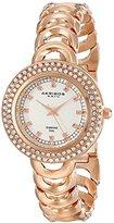 Akribos XXIV Amazon Exclusive Women's AK804RG Diamond-Accented Rose Gold-Tone Watch