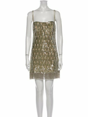 Alexis Square Neckline Mini Dress w/ Tags Gold