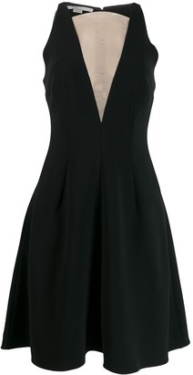 Stella McCartney Sheer Panel Flared Dress