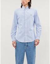 Polo Ralph Lauren Logo-embroidered striped cotton-poplin shirt