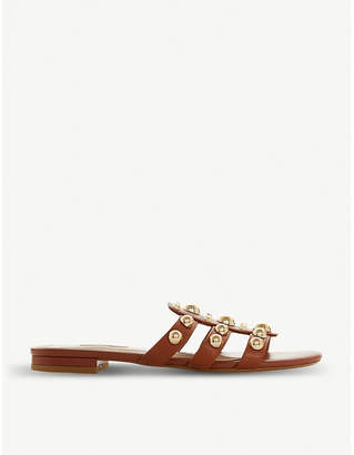 Dune Nell leather mule sandals