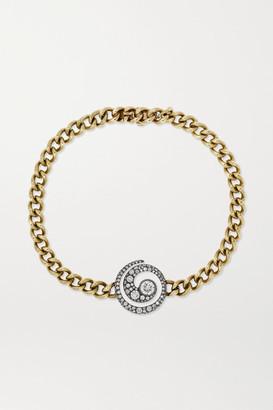 Jessica McCormack Tattoo 18-karat Blackened White And 9-karat Yellow Gold Diamond Bracelet - One size