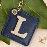Stow Personalised Luxury Leather Initial And Keyring